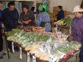 野菜や果実、鉢花などを販売