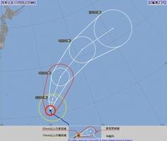 台風23号の予想進路=2019年11月6日午前9時現在(気象庁HPから)
