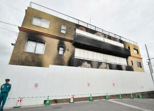 放火殺人事件から2カ月となった「京都アニメーション」第1スタジオ=18日午前、京都市伏見区