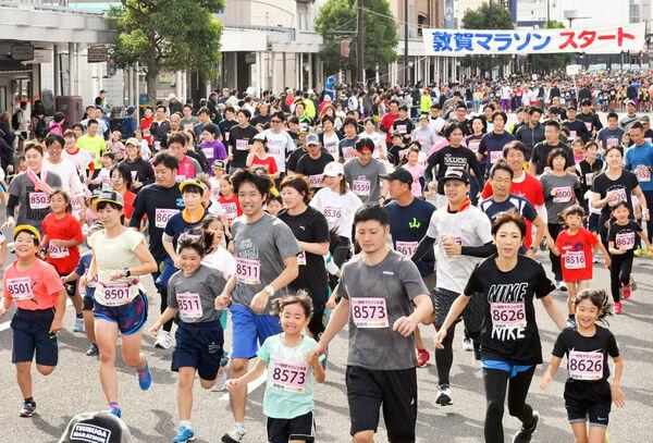 敦賀マラソン、2549人が快走