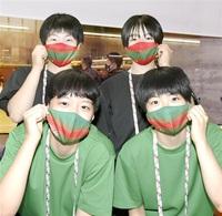 緑と赤そろいのマスク バレーボール女子工大福井 青春ダイアリー