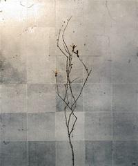枝先に表現 孤高の強さ 画家・前壽則さん福井で個展 ツクバネに人を投影