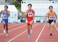 福井国体山県亮太10秒39決勝へ
