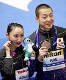 世界水泳、安部・足立組が銅獲得