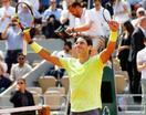 全仏テニス、ナダルが2回戦へ