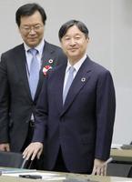 「世界水の日」記念シンポジウムを聴講された皇太子さま=22日午後、東京都渋谷区の国連大学(代表撮影)