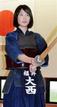 剣道 成年女子 大西ななみ(県立武道館) 頼れる切り込み隊長 チームふくいの新戦力