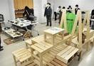 生徒自慢の製品ずらり 嶺南西特別支援校 木工、陶…