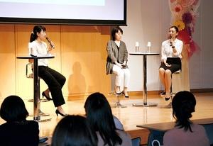 子宮頸がんや乳がんについて、福井県内の医師が検診の大切さを訴えた「ふくいキレイ女子大」=9日、福井新聞社・風の森ホール