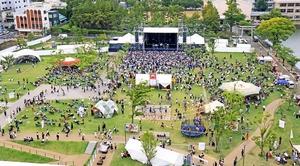 2019年7月に福井県の福井市中央公園で初開催され、約1万人を動員したワンパークフェスティバル。20年は7月4、5日に開催される