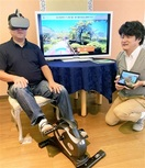 ペダルを踏んで全国名所散策 VRでリハビリ意欲…