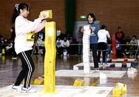 ウッドスポーツ白熱 池田町で全日本選手権 ユニーク3競技、仲間と汗