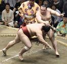 大相撲、鶴竜1敗を維持