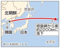 北朝鮮ミサイル3700キロ飛行