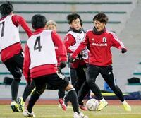 サッカー、男子は攻撃の形確認
