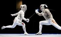 青木千佳のフェンシング日本が1回戦突破 東京五輪女子サーブル団体、チュニジア下す