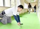 小浜の保育園で壁、床を修繕奉仕 県インテリア協組