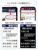 福井新聞D刊の新機能「シンプルモード」