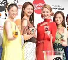理想のデートを明かしたE-girls(左から)坂東希、佐藤晴美、楓、山口乃々華 (C)ORICON NewS inc.