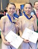 バトン世界大会で福井の双子姉妹V