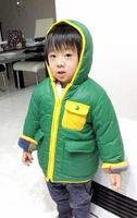 行方が分からなくなっている田中蓮ちゃん。このフード付きジャンパーを着ていた