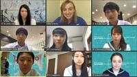 米五輪選手と中高生がネット交流