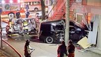 パトカー追跡の車が死亡事故