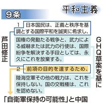 9条に「平和希求」 芦田修正、中国が不安表明 憲法知って考えよう(…