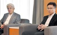 県民の声 政策に 中村、櫻本副知事 就任あいさつ来社