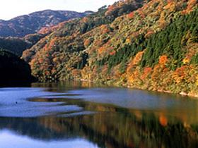 山津波が谷をふさぎできたといわれる池