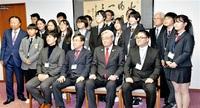 日韓友情深めたい 水原Jr.大使 市長表敬 都市交流の縁 福井へようこそ