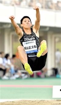 城山 走り幅日本新 8メートル40 橋岡記録の後に逆転 ナイト・ゲームズ・イン・フクイ