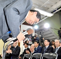 福井知事選、後輩に敗れた現職無念