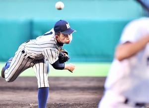 第101回全国高校野球選手権大会1回戦で完投した敦賀気比の笠島尚樹=甲子園