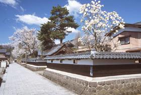 小京都・大野の古い町並みを今に残す通り