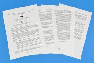 ケニアなど4カ国がワシントン条約の常設委員会に提出した議案書の写し