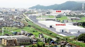 福井県内で唯一整備される北陸新幹線の「敦賀車両基地」のイメージ図(鉄道・運輸機構提供)