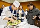 啓新高校生が感謝込めた料理披露