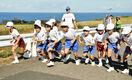 園児も児童も、元気に合同マラソン