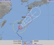 台風20号進路予想、九州接近か