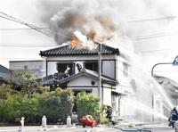 坂井で住宅全焼 けが人なし