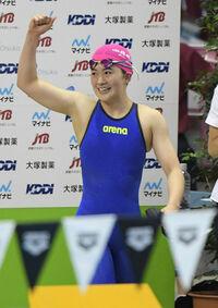 きれいな泳ぎで高校2冠 16歳谷川、東京五輪視野に スポーツランド