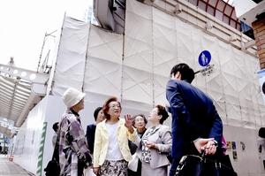 福井駅周辺の再開発、歩い…