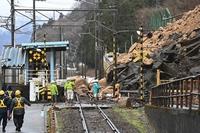 えちぜん鉄道、4月6日夕方にも運転再開 土砂崩れで運転見合わせの勝山-山王間