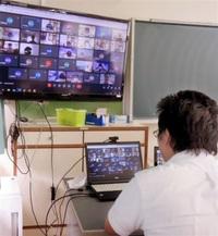 オンラインで「登校」 通信環境、健康など確認 勝山中部中