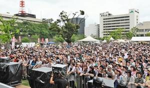 2019年7月に福井市中央公園で初開催され、1万人を動員したワンパークフェスティバル。20年は7月4、5日に開催される(実行委員会提供)