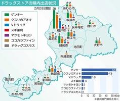 ドラッグストアの福井県内出店状況