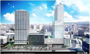 通称「三角地帯」のA街区再開発事業の完成イメージ(再開発組合ホームページより)