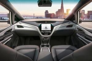 GMのハンドルやアクセルペダルなどがない自動運転車のイメージ(同社提供・共同)