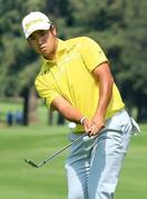 ゴルフ、松山67で16位に浮上